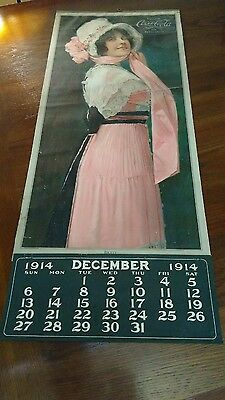 1914 Coca Cola Betty Calenar With December & Year Pad