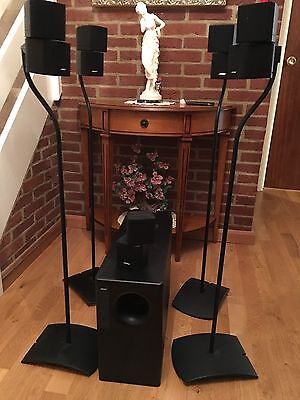 Bose Acoustimass 10 Speaker System With 5 Double Cubes and Subwoofer