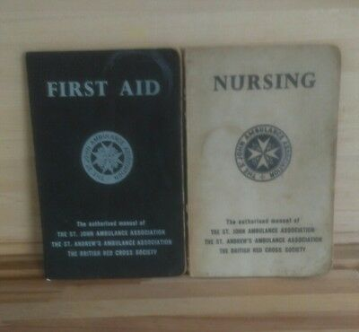 Two St John Ambulance Books First Aid & Nursing 1958