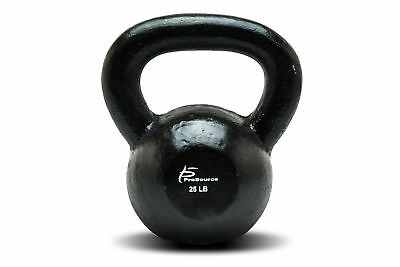ProsourceFit Solid Cast Iron Kettlebells Weights for Full Body Workout 25lbs