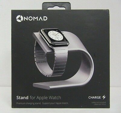 Nomad Stand for Apple Watch - Silver Aluminum STAND-APPLE-S-001