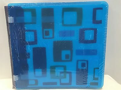 Creative Memories BLUE GEOMETRIC Plastic Scrapbook Album 7x7 NIP