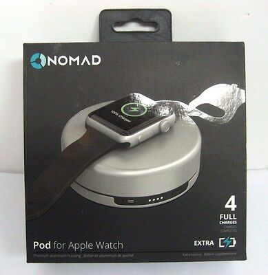 Nomad - Pod Portable Charger Apple Watch - POD-APPLE-S-001 - Silver