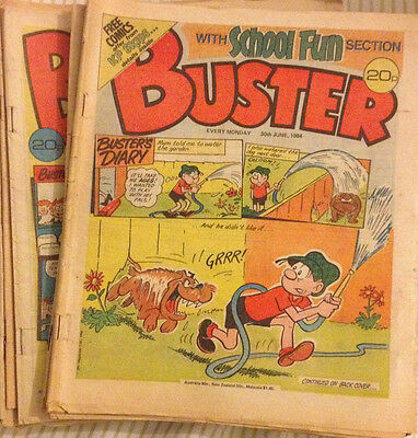 Buster Comic Job Lot x 23 copies (1984)