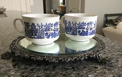 Blue Willow Breakfast Cup Large Coffee Soup Mug, Churchill England  (3)