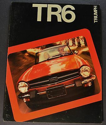 1975 Triumph TR6 Catalog Sales Brochure Excellent Original 75