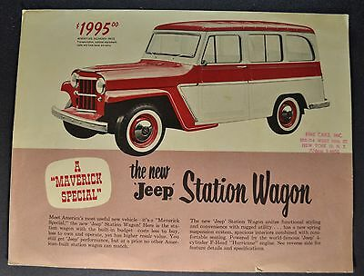 1959 Jeep Station Wagon Brochure Sheet Willys-Overland Nice Original 59