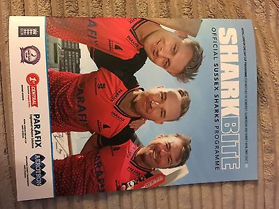 Sussex Sharks Royal London Cup Home Matches Programme 2017