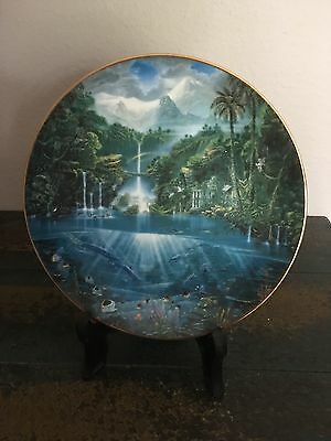 """Hamilton Collection """"sanctuary Of The Dolphin Plate""""  Excellent Condition"""
