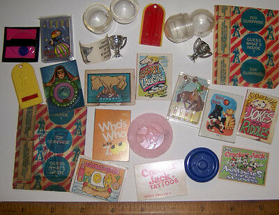 Vintage Lot of CRACKER JACK PRIZES & Gumball Some Never Opened!!!!!!!