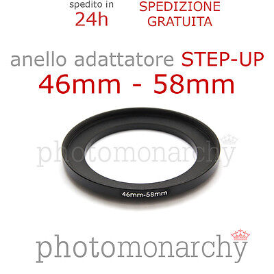 Anello STEP-UP adattatore da 46mm a 58mm filtro - STEP UP adapter ring 46 58 mm