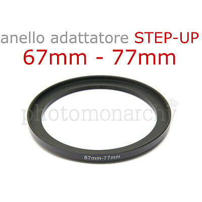 Anello STEP-UP adattatore da 67mm a 77mm filtro - STEP UP adapter ring 67 77 mm