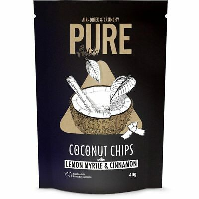 Coconut Chips with Lemon Myrtle & Cinnamon 40g - Pure Fields