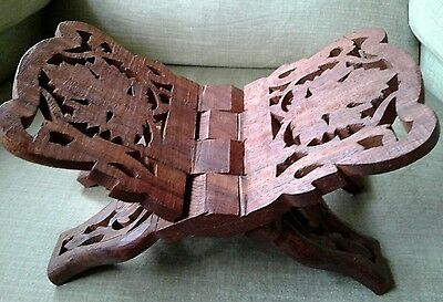 Vintage Hand Carved Wooden in India Bible/book Stand