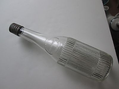 Super Clear & Clean Curtice Bros. Ketchup Bottle with Tin Top. Rochester, NY