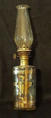 Vintage Oil Lamp Small/Medium Size Gold Eagles