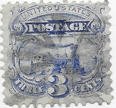 US  Stamps Collection  - 114 Mint - 1869 3c Locomotive ($250) Nice Cancel