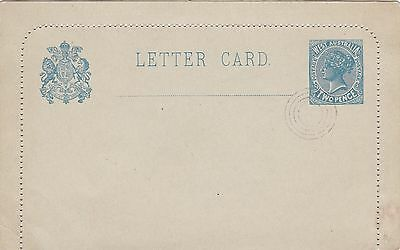 WA12) Western Australia 1902 2d Slate Blue Lettercard H & G LC 3 text on reverse