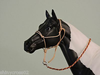 Brown Rope Halter Traditional sized Breyer Peter Stone with Lead Rope
