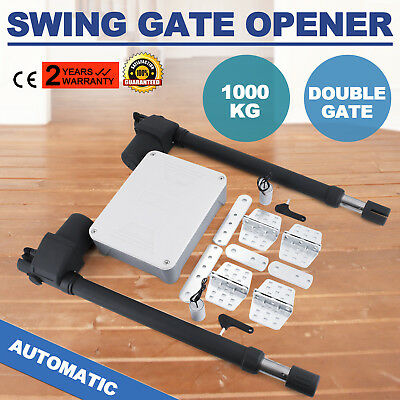 Gate Gates Automation Electric Swing Automatic Opener Kit 2 Arm 2 Remotes 230V
