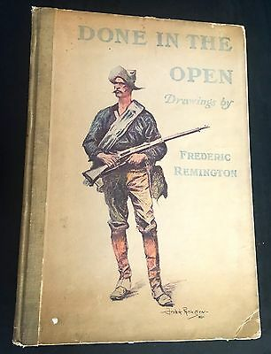 "1902 ""Done In the Open Drawings"" by Frederic Remington"