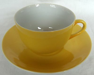 Cup and Saucer Set ~ BAVARIA China~Yellow and White ~ Z S & Co ~ Delicate 6 Oz