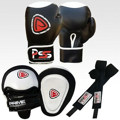 MMA boxing gloves punch bag senior mitts Focus pads hand wrap training set S1