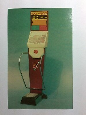 1950s Dr. Pepper Soda Weight Scale Advertising Postcard