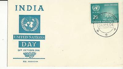 India 252 United Nations Day 1954 FDC