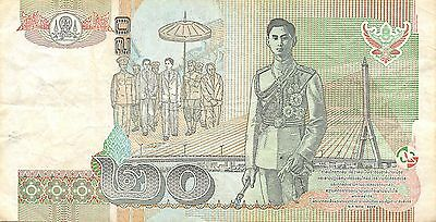 Thailand  20 Baht  ND. 2003  P 109  Series  9 F Sign. # 75  Circulated Banknote