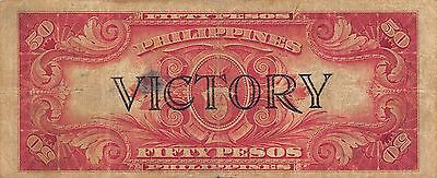 Philippines  50 Pesos  ND. 1944  P 99a  Victory Series  Circulated Banknote