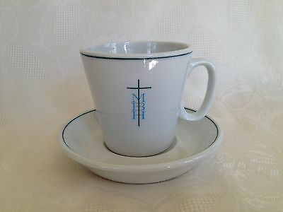 Vintage Shenango Restaurant China Cup and Saucer MBH/Cross