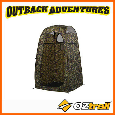 OZtrail POP UP SINGLE TACTIX CAMO ENSUITE CAMPING TOILET SHOWER TENT