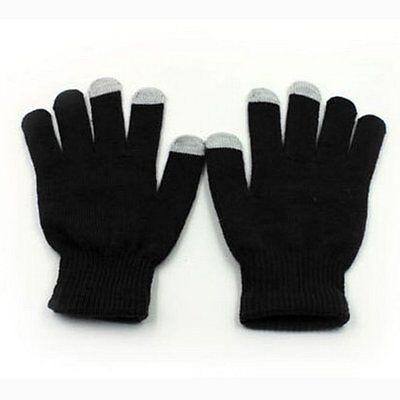 New Kids Teens Magic Touch Screen Gloves. Black. One Size. Conductive Tips HM