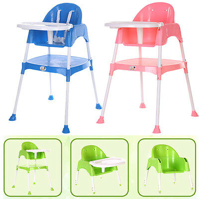 New Baby Kids High Chair Highchair Reclinable Foldable Adjustable Height Feeding