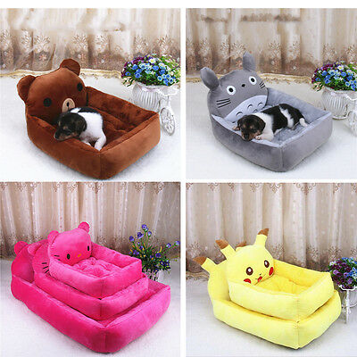 Pet Dog Cat Bed Cartoon Mat Durable Kennel Doggy Puppy Stack Pad Cushion Basket