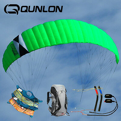 9㎡ N7 Quad Line Control Traction Kite with Handles & Lines Skateboarding Sports