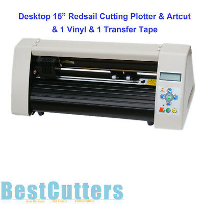 "15"" Desktop Cutting Plotter Vinyl Cutter Kit W Artcut & 1 Vinyl  Roll & 1 Tape"