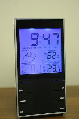 Digital Lcd Weather Station Multifunction Themperature Barometer Clock Alarm