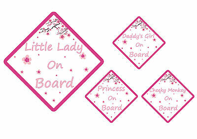 FLOWERS LITTLE LADY/PRINCESS ON BOARD , Car Sign. Baby Child Children Safety