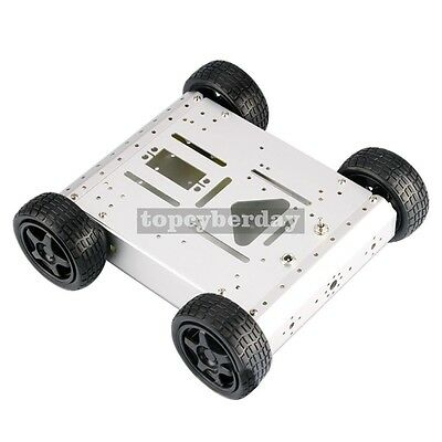 4WD Robot Smart Car Chassis Kits Metal Car Platform For Arduino Raspberry Pi