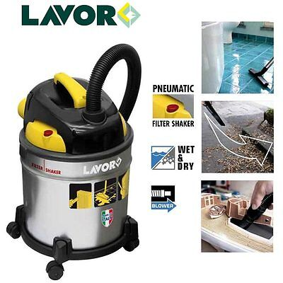 Lavor Vac 20S Wet & Dry Vacuum Cleaner 1200W Canister Industrial Cleaner Hoover