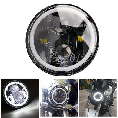 "5.75"" Motorcycle LED Projector Daymaker HI Lo Headlight Halo For Harley Jeep"