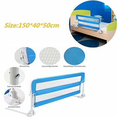 New 150cm Blue Baby Side Bed Rail Sleeping Safety Protection Guard Folding Rail
