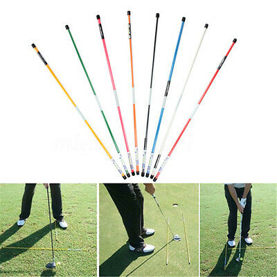 Golf Alignment Sticks Practice Training Aid Ball Striking Rod 2 Poles Per Pack