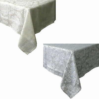 Royale Damask Jacquard Linen Polyester Table Cloth ROUND SQUARE RECTANGLE
