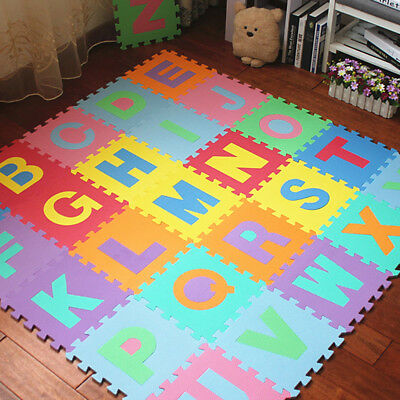 26pcs XL LARGE Alphabet Numbers EVA Floor Mat Baby Room Jigsaw ABC Foam Puzzle
