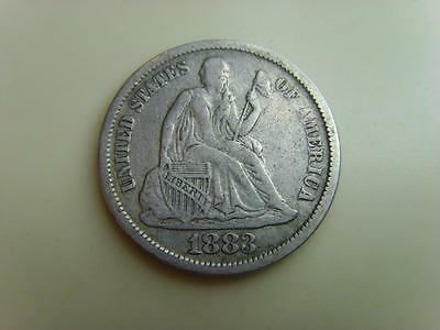 1883 Usa One Dime Liberty United States Of America Coin