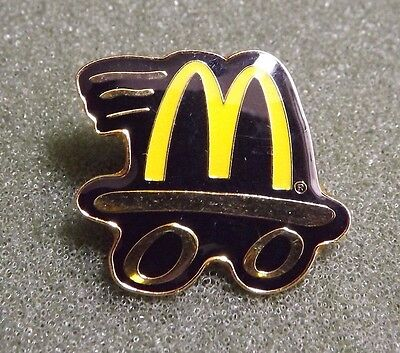 McDonald's Crew Employee Lapel Pin Drive Thru Flying M Black & Gold Colored