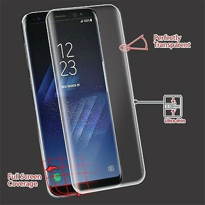 Samsung Galaxy S8 / Plus Curved FULL COVERAGE Screen Protector Clear Film Guard